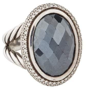 David Yurman Hematine & Diamond Cocktail Ring