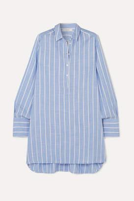 Munthe MUNTHE - Destiny Striped Gauze Tunic - Blue