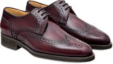 Pakerson Wine Red Italian Handmade Calfskin Lace-Up Shoes