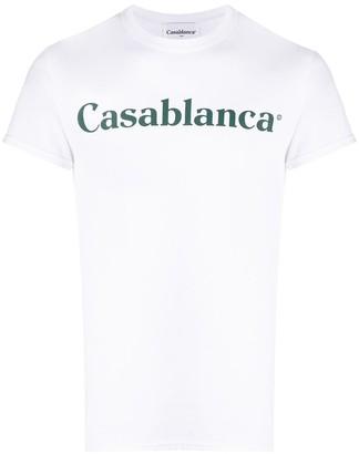 Casablanca logo print T-shirt