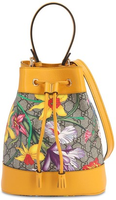 Gucci FLORA GG SUPREME BUCKET BAG