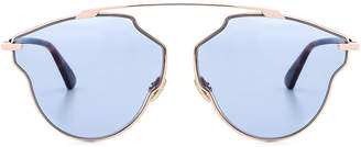 Christian Dior So Real Pops Sunglasses in Gold & Blue | FWRD