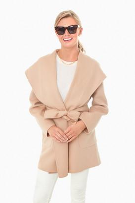 Marella Camel Wool Fumetto Coat