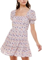Thumbnail for your product : Trixxi Juniors' Floral-Print Babydoll Dress