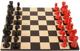 Purling London - Bold Chess Set - Classic Red - v Shadow Black