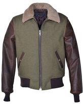 Schott NYC Sheepskin Collar Mixed Media B-15 Jacket