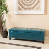 Christopher Knight Home Guernsey Faux Leather Storage Ottoman Bench