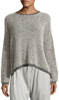 Eileen Fisher Boxy Boucle Pullover Sweater