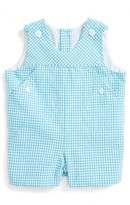 Luli & Me Infant Girl's Seersucker Check Romper