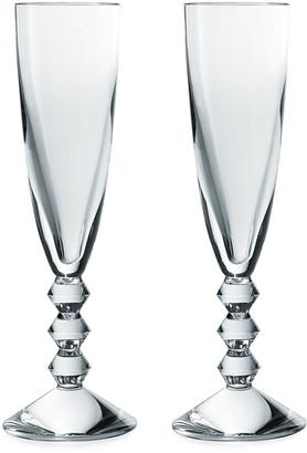 Baccarat Vega Champagne Flutes, Set of 2