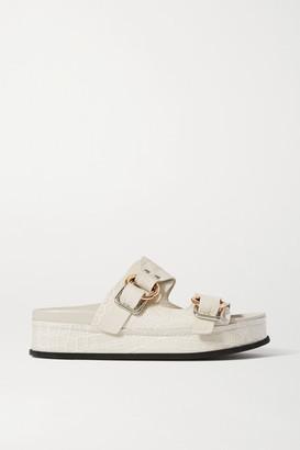 3.1 Phillip Lim Space For Giants Freida Croc-effect Leather Platform Sandals - White