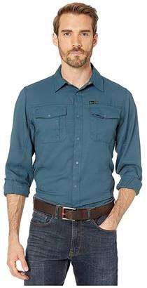 Wrangler ATG Outdoor Flap Pocket Hike Shirt (Midnight Navy) Men's Clothing