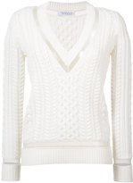 Gabriela Hearst - cashmere braided detail V neck jumper - women - Cashmere - XS