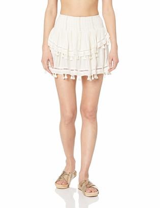 Ramy Brook Women's Lurex Morocco Fringe Mini Skirt