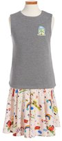Dolce & Gabbana 'Grigi' Print Dress (Toddler Girls, Little Girls & Big Girls)