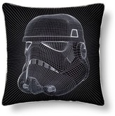 "Star Wars Storm Trooper Helmet Grid Pillow (15""x15) Black"