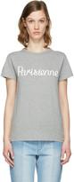 MAISON KITSUNÉ Grey 'Parisienne' T-Shirt