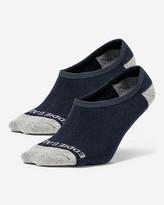 Eddie Bauer Men's Tipped No-Show Liner Socks - 2 Pack