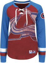 Majestic Women's Colorado Avalanche Hip Check Long Sleeve T-Shirt