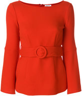 P.A.R.O.S.H. long sleeved belted blouse
