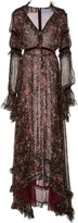 Luisa Beccaria Printed Silk-Chiffon Gown