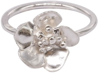 Lily Flo Jewellery Cherry Blossom Ring In Sterling Silver