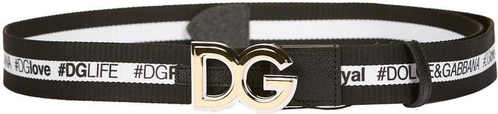 Dolce & Gabbana Logo Band And Buckle Belt
