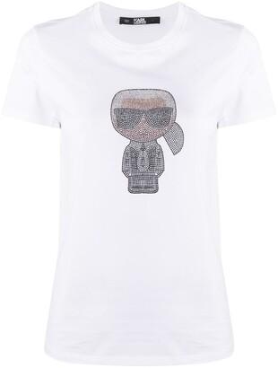 Karl Lagerfeld Paris Ikonik Rhinestone T-Shirt