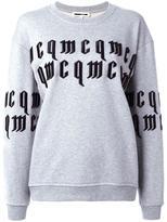 McQ by Alexander McQueen goth logo sweatshirt - women - Cotton - L