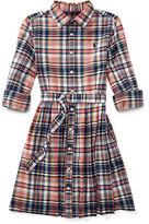 Ralph Lauren 7-16 Madras Cotton Shirtdress