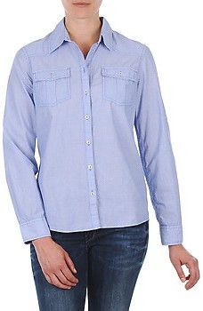 S'Oliver CHEMISTER MANCHES LO women's Shirt in Blue