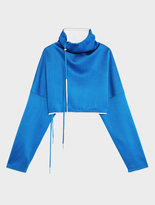 DKNY Runway Hi Neck Cropped Pullover