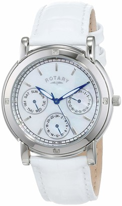 Rotary Womens Analogue Classic Quartz Watch with Leather Strap RLS00024/07/WS