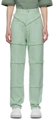 Ambush Green High-Waisted Jeans