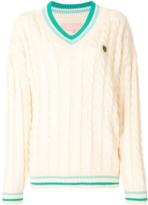 Bapy By *A Bathing Ape® Cable-Knit V-Neck Jumper