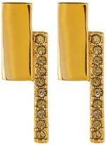 Botkier Square Pave Embellished Bar Stud Earrings