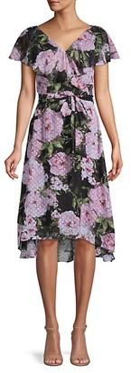Julia Jordan Moody Floral-Print High-Low Dress