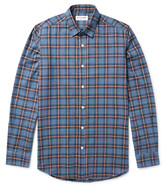 Saint Laurent - Slim-fit Checked Brushed-cotton Flannel Shirt