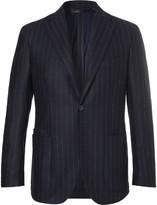 Drake's - Easyday Navy Chalkstriped Wool Suit Jacket