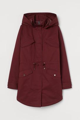 H&M Cotton Twill Parka - Red