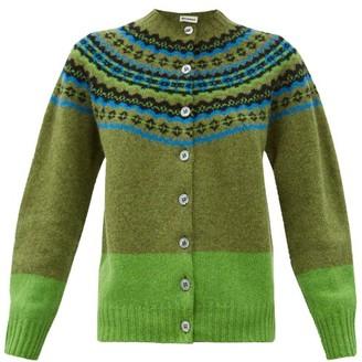Molly Goddard Timmy Fair-isle Wool Cardigan - Green
