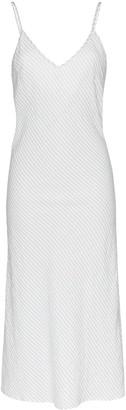 POUR LES FEMMES Stripe Slip Dress
