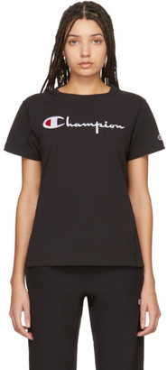 Champion Reverse Weave Black Big Script T-Shirt