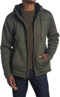Free Country Faux Shearling Lined Zip Jacket