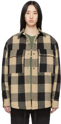 Fear Of God Black and Off-White Oversized Check Jacket