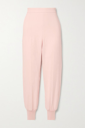 Stella McCartney Net Sustain Julia Crepe Track Pants - Pastel pink