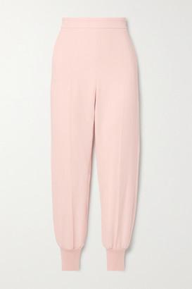 Stella McCartney Net Sustain Julia Crepe Track Pants - Pastel pink