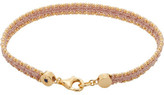 Astley Clarke Peach Blush Woven Biography Bracelet
