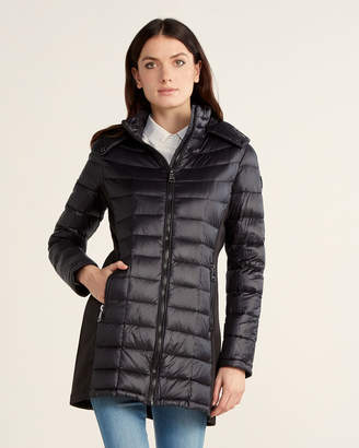 Calvin Klein Stretch Side Packable Long Coat