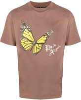 Palm Angels butterfly print crew neck T-shirt